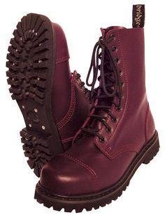 10-Loch Ranger Boots Kampfstiefel Springer Stiefel Rangers Bordeaux Rot Weinrot | eBay