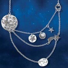 Celestial Galaxy Silver Necklace