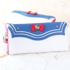 Japanese Harajuku Pretty Soldier Sailor Moon Cosplay Wallet Purse Sweet Bow Candy Color Lolita Bag