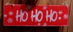 Ho Ho Ho schild holz shabby von Inas Nordlichter auf DaWanda.com