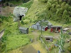 HO scale farm