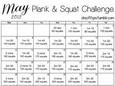May 2013 Plank & Squat Challenge