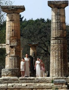 Olympic Flame Ceremony, Ancient Olympia Peloponnese Greece #olympia http://blog.keytours.gr/2013/05/olympia-unique-experience-at-affordable.html