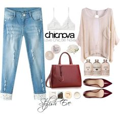 A fashion look from October 2014 featuring Chicnova Fashion jeans, Monki bras and Zara pumps. Browse and shop related looks. Stylish Eve Outfits, Work Outfits, Weekend Wear, Jeans Style, Peony, Boyfriend Jeans, Polyvore Fashion, Fashion Looks, Zara