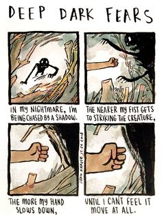 Too many holiday cookies will give you nightmares. An anonymous fear submitted to Deep Dark Fears - thanks! You can find my DDF books wherever books are sold! Arte Horror, Horror Art, Short Creepy Stories, Fear Book, Deep Dark Fears, Dark Art Illustrations, Dark Comics, Funny Gags, Afraid Of The Dark