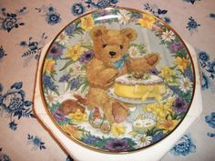 Franklin Mint Teddy Bear Easter Plate/Bengry Franklin Mint, Teddy Bears, Easter, Plates, Paint, Licence Plates, Dishes, Griddles, Easter Activities