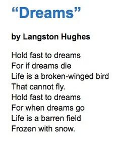 Carole's Chatter: Dreams by Langston Hughes Birds That Cannot Fly, Langston Hughes, Civil Rights Movement, Quotations, Poetry, Dreams, Life, Poetry Books, Quotes