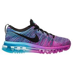 Women's Nike Flyknit Air Max Running Shoes | Finish Line. ❤ OMGS! These are the ones I want && love! I love the color mixtures of these running shoes! I so want these & these other pairs too! These are really cute & stylish to run with && seem very comfortable to walk in!! I love me some Air Max favorite running shoes ever, must get them real soon!! ❤❤