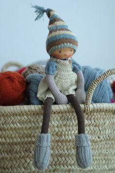 "Reserved for Ania-Knitted doll Irene 14"", dolls, Waldorf doll, soft doll, OOAK, puppen, art doll, rag doll, Peperuda dolls, handmade doll by PeperudaKnittedDolls on Etsy https://www.etsy.com/listing/295355451/reserved-for-ania-knitted-doll-irene-14"