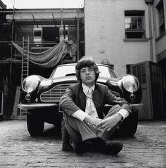 Mick Jagger and his Aston Martin DB6, London 1966 (unattributed)...