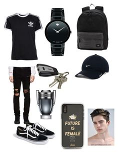 """back to shcool"" by laianeira ❤ liked on Polyvore featuring adidas, RtA, J.Crew, Movado, Vans, J.B. Nifty, NIKE, Chico's, Paco Rabanne and Sonix"
