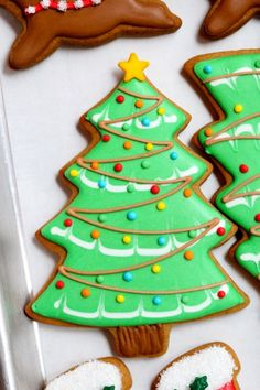 46 super ideas for cookies royal icing ideas christmas trees Christmas Biscuits, Christmas Tree Cookies, Iced Cookies, Holiday Cookies, Christmas Treats, Owl Cookies, Chocolate Cookies, Holiday Baking, Christmas Baking