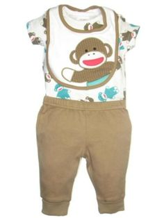 Cute baby boy monkey outfit.