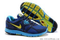 Hommess Nike Lunarglide 3 Bleu Jaune Noir Chaussures 454164-004