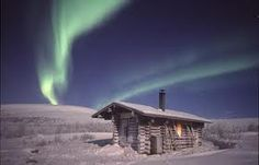 Lapland Landscape and Northern Lights