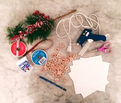 DIY Scrabble Ornament