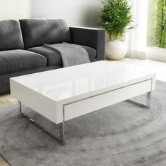 Make a statement with a stunning gloss coffee table. And explore gorgeous styles you'll love for years to come, at Furniture123. White coffee table with drawers. #whitecoffeetables #coffeetables #whitelivingroom #livingroomfurniture #whitehome #glosscoffeetable #livingroomstyle #highglosscoffeetable #whitelivingroomdecor Large Furniture, New Furniture, Online Furniture, Living Room Furniture, White Gloss Coffee Table, White Coffee, Home Living Room, Living Room Decor, High Gloss Tv Unit