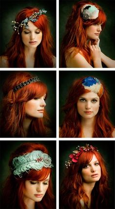 is there anything more fascinating than red hair? Perhaps these fascinators are! Stunning  for #hairstyles and #hair advice www.ukhairdressers.com