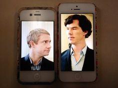No you don't understand Sherlock's phone is taller than John's!