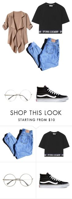 """""""Untitled #317"""" by unicorntears24 ❤ liked on Polyvore featuring Levi's, Opening Ceremony and Vans"""