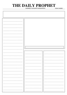 Daily Prophet Template (Lesson DIY and Crafts, Daily Prophet Template (Lesson Harry Potter Full, Harry Potter Classes, Hogwarts Classes, Harry Potter Activities, Harry Potter School, Harry Potter Classroom, Harry Potter Printables, Harry Potter Room, Harry Potter Theme