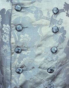 Sky blue banyan, silk. 1750-1760. In the Manchester Art Gallery.Tumblr