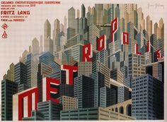 Metropolis Movie Poster - as beautifully designed as everything in this movie