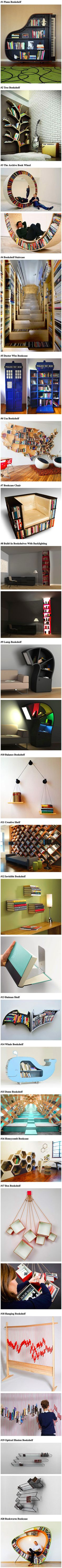We have rounded up a collection of cool bookshelves that geeks would love.