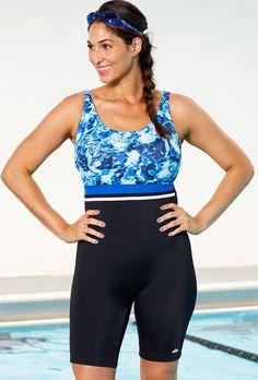 98765c4d350 Xtra Life Lycra Aquabelle Abstract Water Aquatard Women Swimsuits