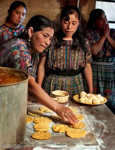 Learning to make tortillas in Guatemala