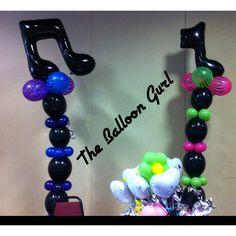 Neon Animal Print & Music Notes! -The Balloon Gurl