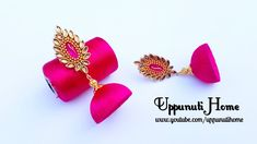 Earrings Diy Making beautiful white and pink silk thread jhumkas/making jhumkas at home Silk Thread Earrings Designs, Silk Thread Jhumkas, Silk Thread Bangles Design, Silk Thread Necklace, Beaded Necklace Patterns, Thread Jewellery, Jewelry Patterns, Diy Jewellery, Jewellery Making