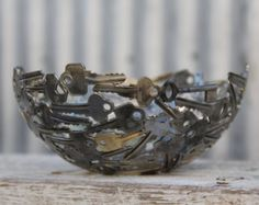Medium key bowl 20 cm, Key bowl, Metal Bowl, Metal sculpture ornament, Made to order.