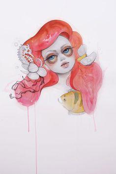 Ariel | #drawing #illustrator #illustration #art #color #paint #ilustração #arte #sketch #sketchbook #rough #wip #cartoon #draw