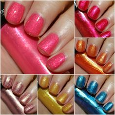 Hard Candy Itsy Glitzy Nail Lacquer Collection Swatches and Review - Vampy Varnish