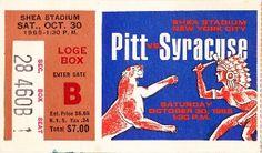 Football Art: Vintage Pittsburgh vs. Syracuse