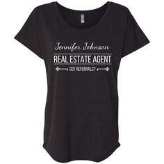 Customizable Real Estate Agent Shirt Ladies' Loose Fit Shirt