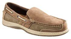 World Wide Sportsman Lake Front Slip On Boat Shoes for Men - Brown - 10.5