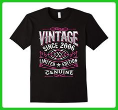 Mens 11th Birthday Gift T-Shirt Vintage 2006 - 11 Years Old Shirt Medium Black - Birthday shirts (*Amazon Partner-Link)
