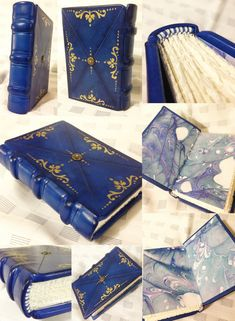 Leather Journal / Little Indigo by bccreativity on Etsy