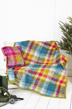 Crochet Blanket and Cushion Cover in Stylecraft Special DK (9255) | Deramores