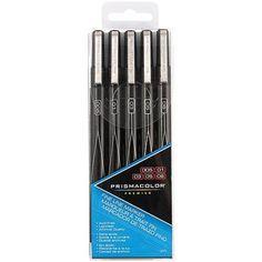 Prismacolor Premier Fine Line Markers, Black, 5-Pack
