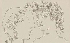 """picassofanclub: """" Picasso, etching """""""
