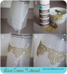 Great for party favors/photo booth pr. - A Modern Mad Hatter - Raising Memories: DIY Lace Crown Tutorial. Great for party favors/photo booth props! Party Favors, Diy Party, Lace Crowns, Diy Crown, Bijoux Diy, Photo Booth Props, Bandeau, Photography Props, Baby Headbands