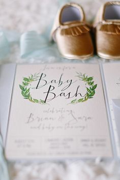 Cute baby bash invitation: http://www.stylemepretty.com/living/2016/10/08/we-love-this-beautiful-alternative-to-a-traditional-baby-shower/ Photography: Katherine Salvatori - http://katherinesalvatori.com/
