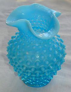Vintage Fenton Blue Glass Vase