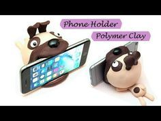 Phone holder|Polymer Clay (Fimo soft)| DIY - YouTube