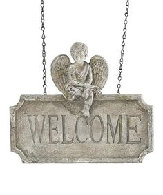 Another great find on #zulily! Hanging 'Welcome' Sign #zulilyfinds