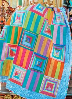 """Read about Kaffe Fassett's latest book, """"Kaffe Fassett's Quilts in Sweden,"""" in our Spring 2012 issue! (This photo is an accompaniment to the article.)"""