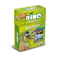 Dino weetjes kwartet  Kwartetten een oer-Hollands kaartspel waarin steeds 4 kaarten bij elkaar gespaard worden. Kwartet! Met prachtige foto's en leuke weetjes over de vele bijzondere dinosaurussen!  EUR 5.99  Meer informatie